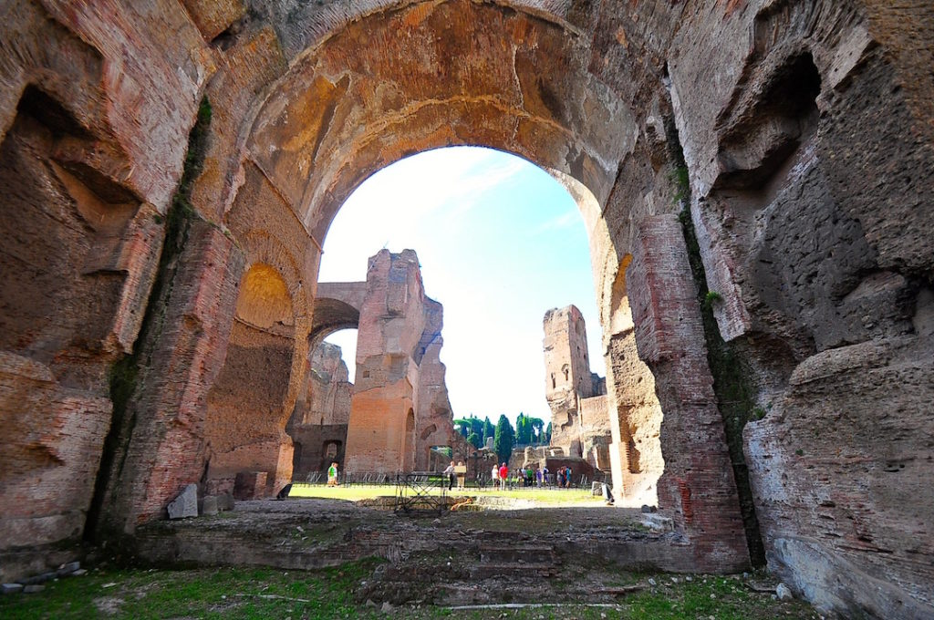 Les thermes de Caracalla à Rome