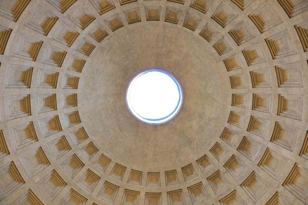 La coupole du Panthéon de Rome
