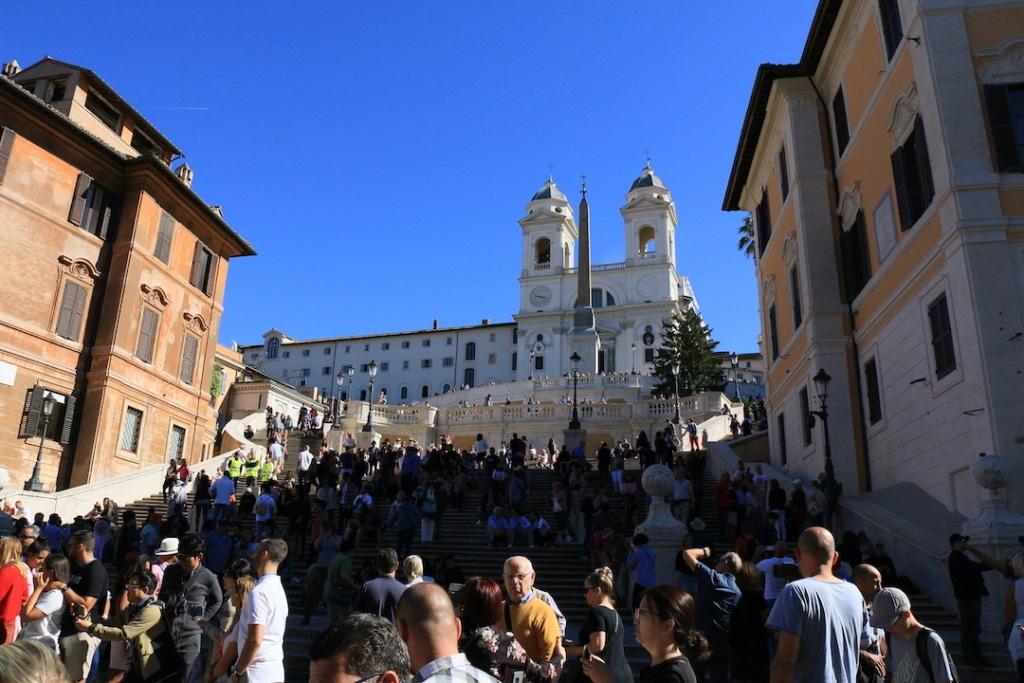 La place d'Espagne ou Piazza di Spagna à Rome
