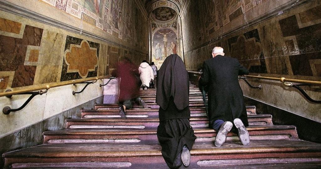 Les escaliers Saint à Rome