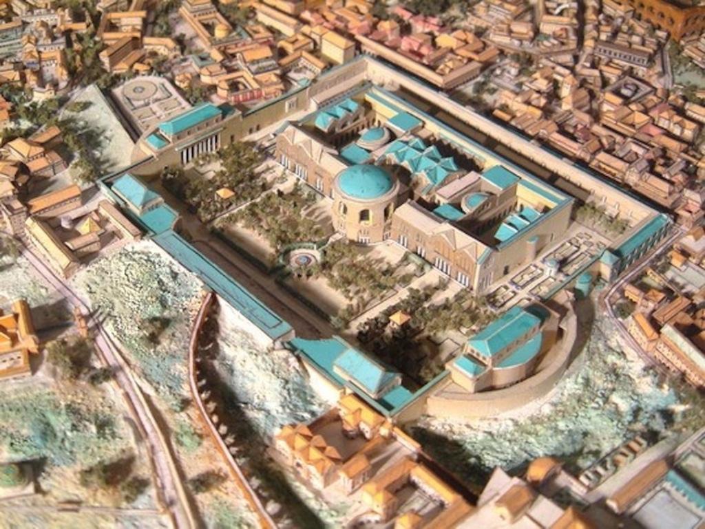Maquette représentant une reproduction des Thermes de Caracalla lorsque c'était ouvert.