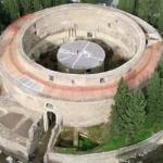 Vue d'en haut du Mausolée d'Auguste : monument cylindrique.