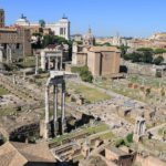 Vue d'en haut du Forum Romain à Rome