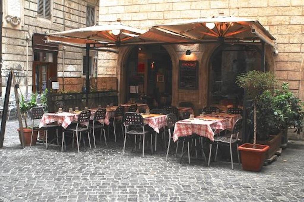 Terrasse du restaurant 433 à Rome