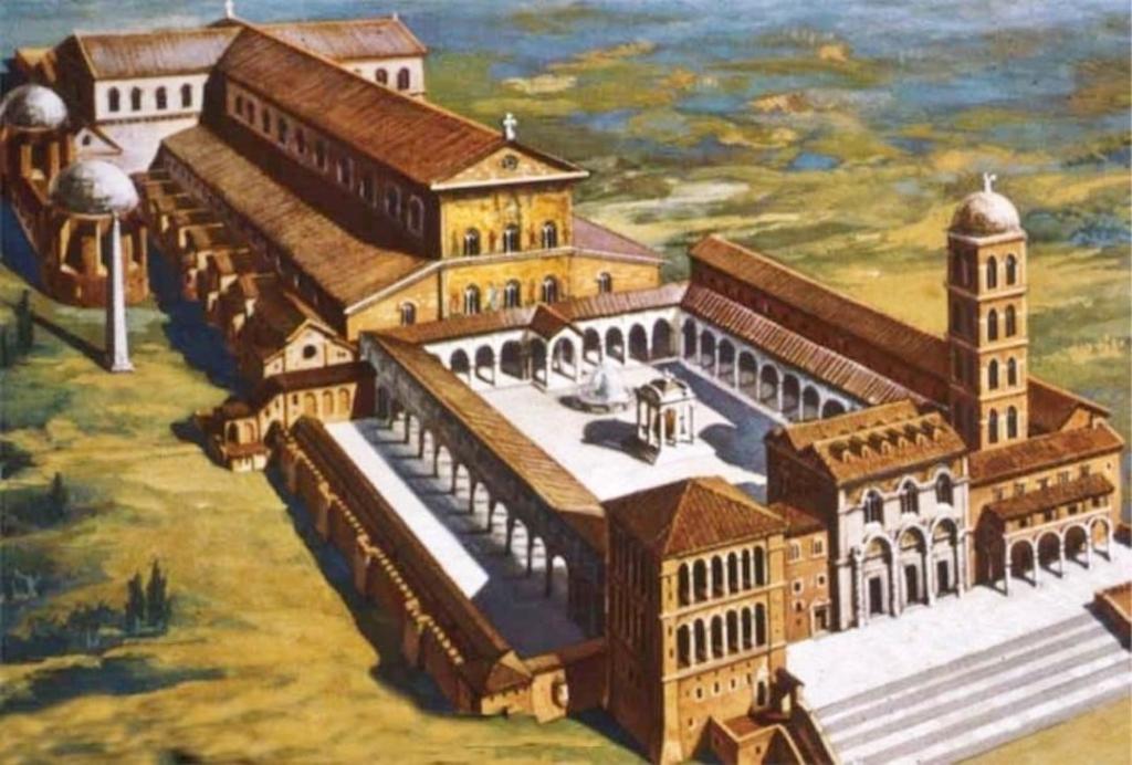 Reconstitution de l'ancienne basilique Saint Pierre au Vatican