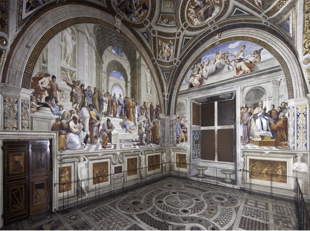 Chambre de Raphaël dans les musées du Vatican