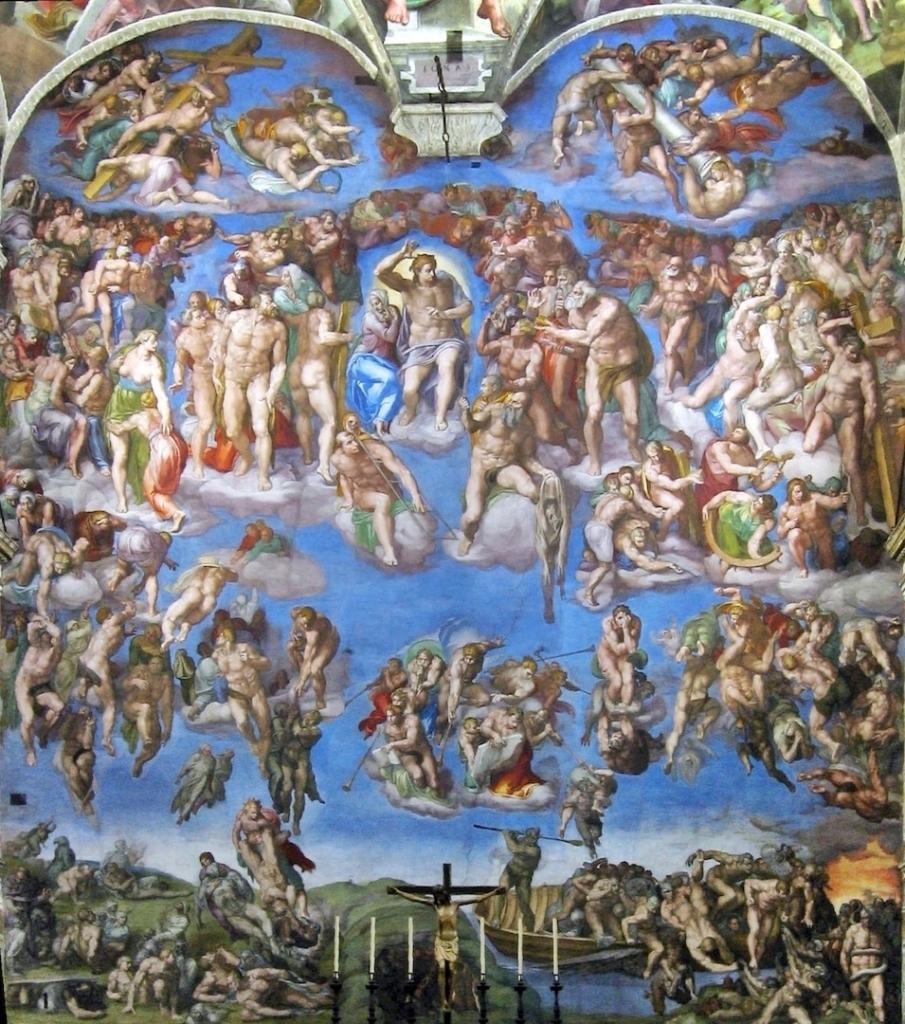 Oeuvre Le Jugement dernier situé dans la Chapelle Sixtine au Vatican