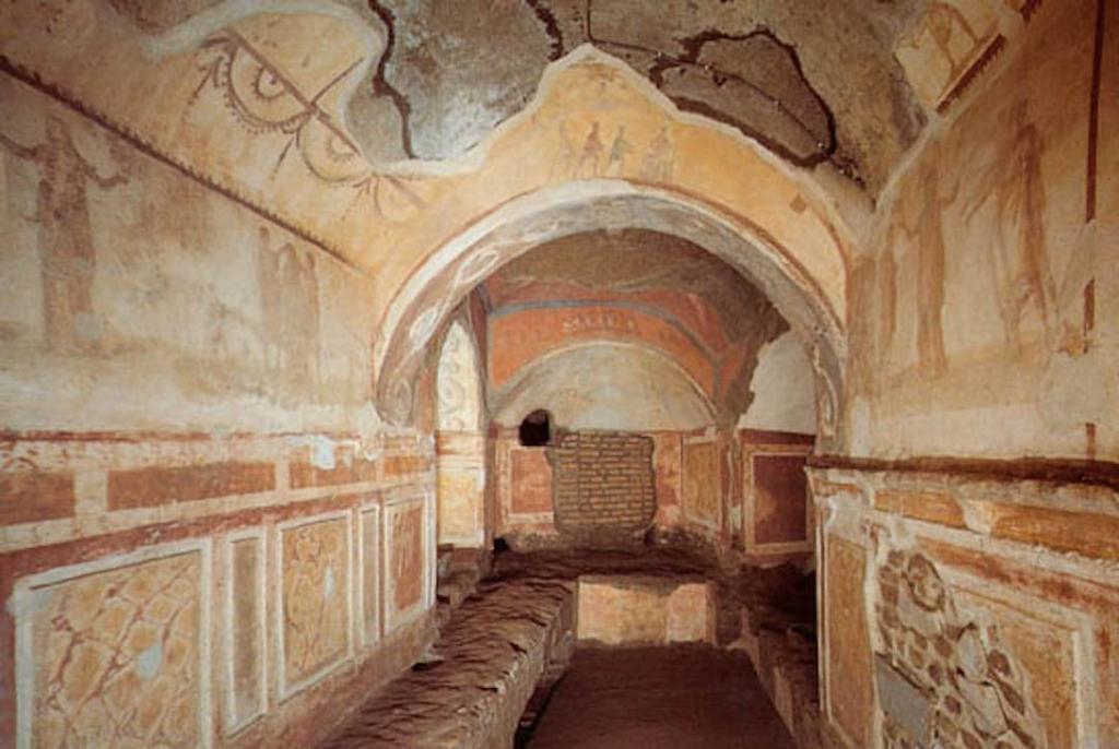 Intérieur de catacombes à Rome