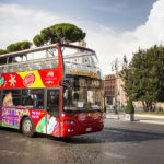 Bus touristique rouge City Sightseeing Roma