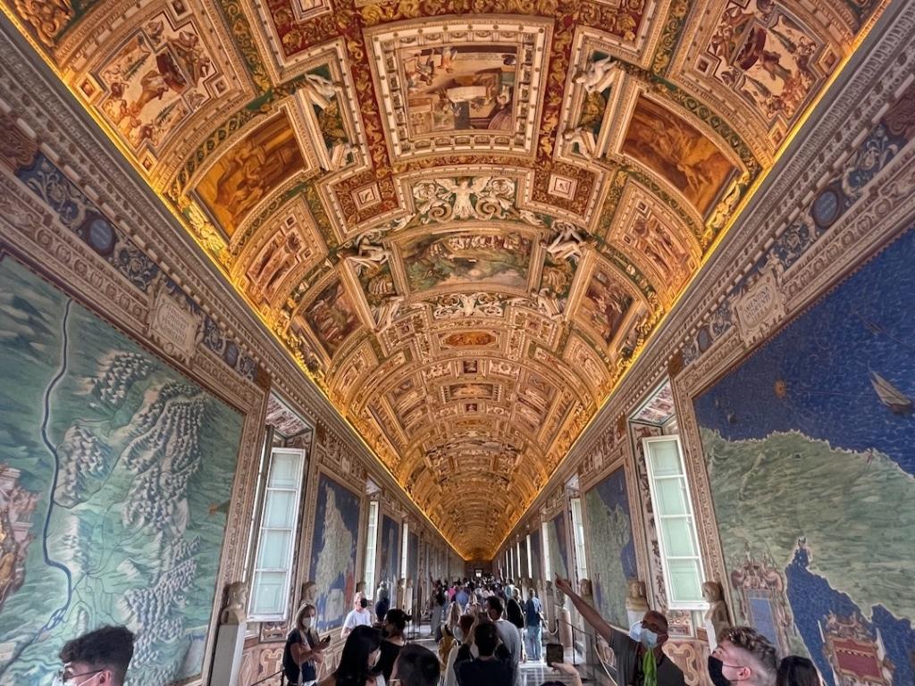 Plafond de la galerie des cartes géographiques au Vatican