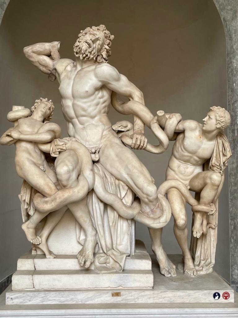 Statue de Laogoon avec ses fils dans les musées du Vatican